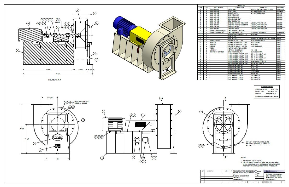 induced fan drawling onix