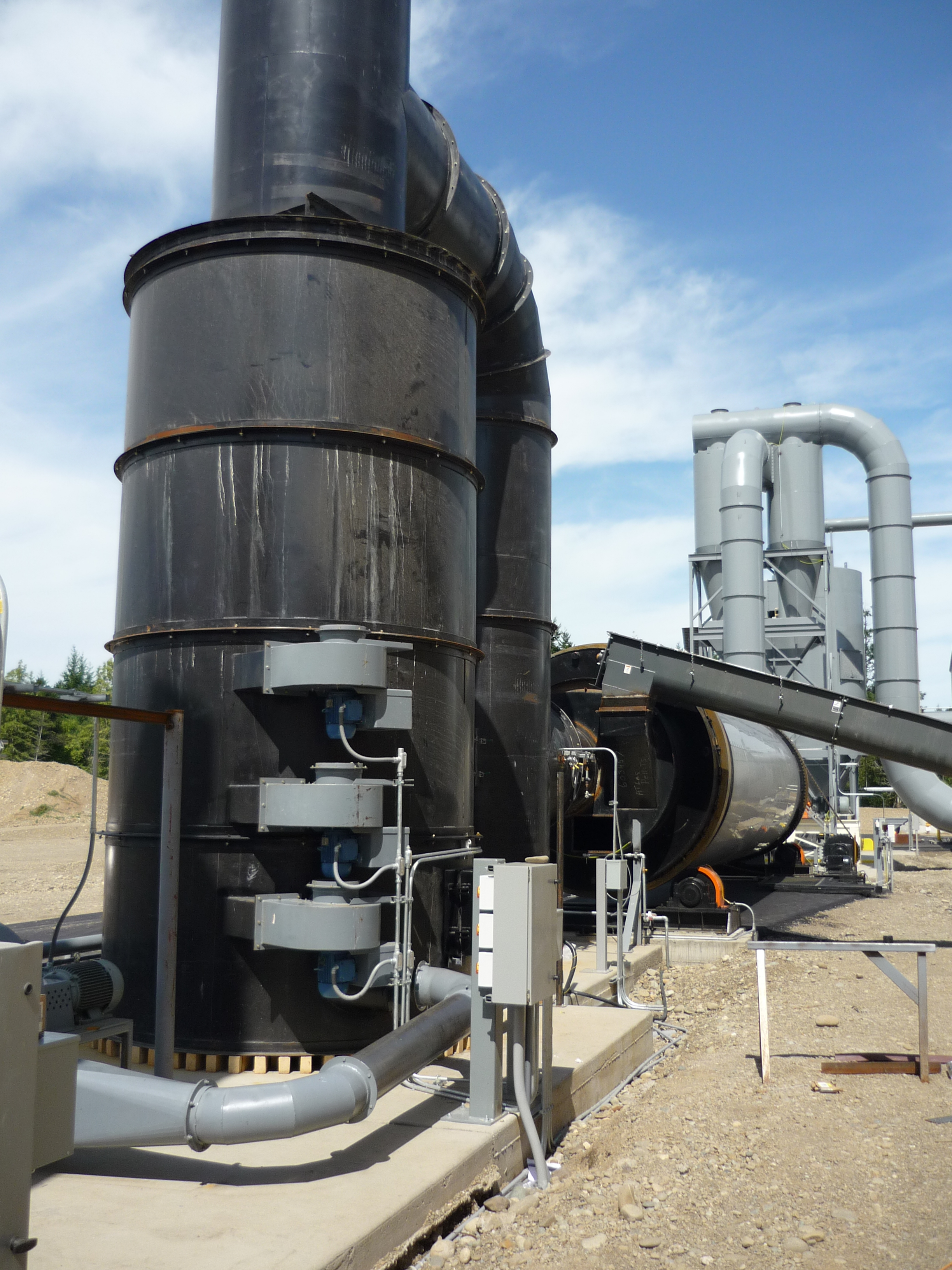 rotary dryer solid fuel burner