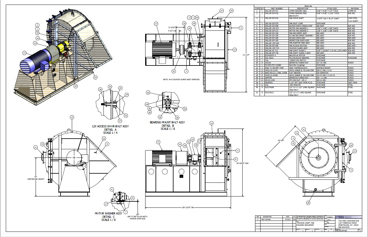induced fan equipment schematics