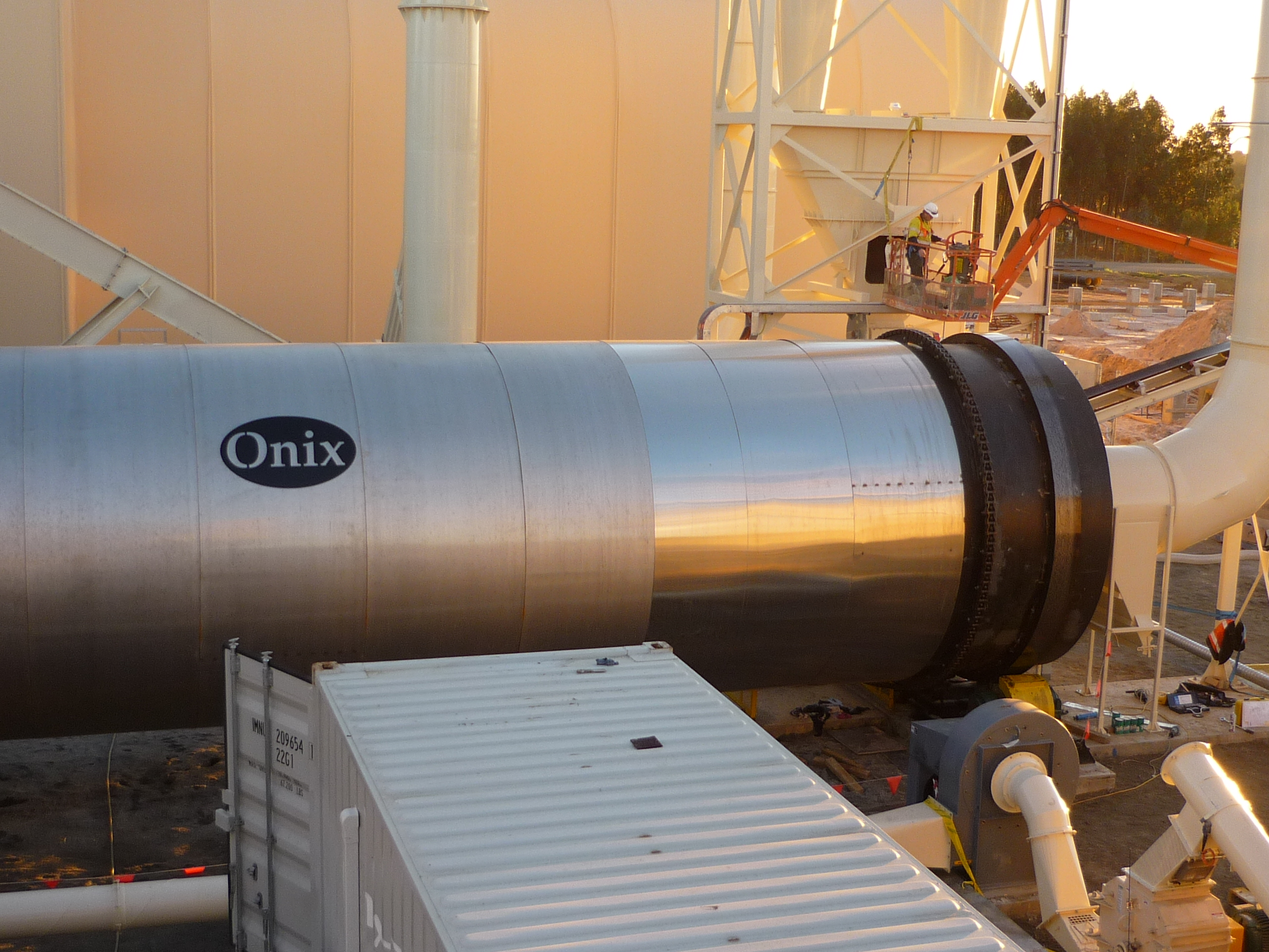 rotary dryer pollution control onix